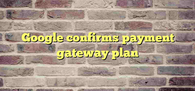 Google confirms payment gateway plan
